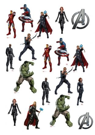 Avengers Stand Up Cupcake Toppers